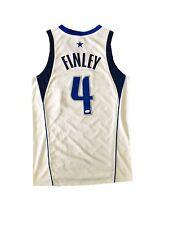 Michael Finley Dallas Mavericks (Home White) Signed Jersey Jsa