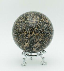 Western Australian Black Dravite (Tourmaline) 87mm Polished Rock Sphere Ball Orb