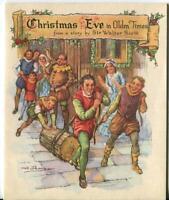 VINTAGE CHRISTMAS STORY ENGLAND YULE LOG CASTLE SIR WALTER SCOTT GREETING CARD