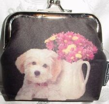 Terrier Microfiber Kiss Lock Coin Purse
