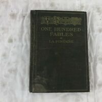 One Hundred Fables La Fontaine Book 1906 Hardcover Antique