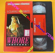 VHS film WHORE Ken Theresa Russell L'ESPRESSO CINEMA classici (F93*) no dvd