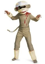 DISGUISE ZOMBIE SOCK MONKEY HALLOWEEN CHILD COSTUME LARGE (10-12) NEW!