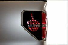 Vinyl Rear Decal Brake Light Skeleton Fingers Wrap Kit for Ford F-150 2009-2014