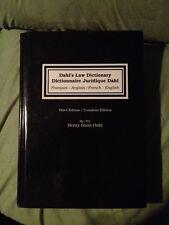 Dahl's Law Dictionary/ Dictionnaire Juridique Dahl by Henry Saint Dahl, Henry...