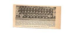 Carnegie Mellon University Tartans & St. Vincent PA 1939 Football Team Picture