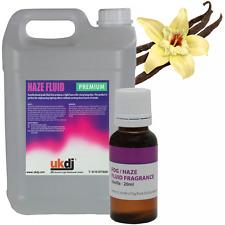 UKDJ Haze Fluid 5L HQ Professional Fog Liquid Scented Vanilla Fragrance