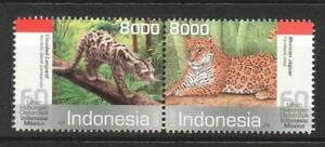 INDONESIA 2013 MEXICO JOINT ISSUE WILD CATS SE-TENANT STRIP COMP. SET OF 2 STAMP