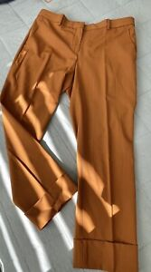 THEORY Tailored Pant Cuffed Trouser US12   AU14 Summer Wool Stretch Designer