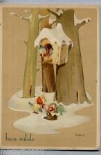 BONFANTI Buon Natale Uccellini con doni PC Circa 1940