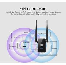 Wifi Repeater Dual Band Wireless Router 2.4/5GHz Range Booster 750Mbps Extender