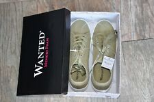 Wanted Women's Basejump Green Lace-Up Platform Canvas Sneakers 7.5 MED NEWINBOX