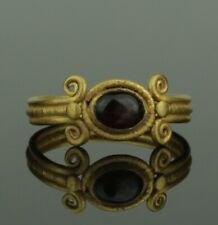 ANCIENT ROMAN GOLD & GARNET RING - 1st/2nd Century AD  (390)