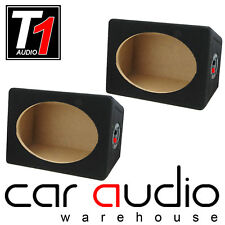 Pair of 6x9 MDF Enclosure Pod Box Car Van Boat Rear Speaker Shelf Sold as Pairs