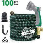 100ft Garden Hose Leak Proof Lightweight W 8 Pattern Spray Gun Nozzle Watering