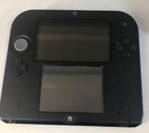 Nintendo 2DS Blue & Black Handheld System Plus Mario Kart Disc