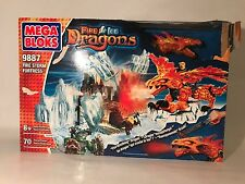 Mega Bloks Dragons Fire Storm Fortress 9887 Fire And Ice Building Blocks New