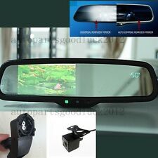 "Auto dimming rearview mirror+4.3"" LCD+compass+temp+camera,fit BMW 3,5,7,x1,x5,x6"