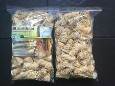 Natural Firelighters For Stoves BBQ Fireplaces 2xBAGS=120pieces UK Free Shipping