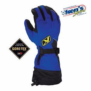 KLIM Blue FUSION GORE-TEX Winter Snowmobile Gloves (Non-Current), 3087-000-200