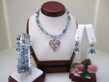 "Brighton ""OPHELIA JEWELS"" Necklace-Earring-Bracelet Set (MSR$174) NWT/Pouch"