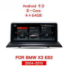 "BMW X3 E83 10,25"" Autoradio Android 9.0 Touchscreen GPS Navi WIFI USB SD 4+64GB"