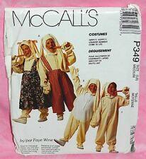 Uncut McCall Boy Girl Child 5-6 Bunny Rabbit Easter Halloween Costumes Pattern