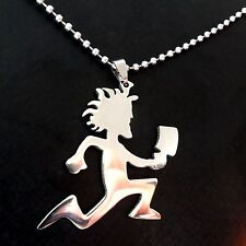 "Music charm ICP Twiztid 2"" HATCHEMAN S.Steel Juggalo Pendant w/30"" NECKLACE"