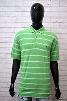 Polo Maglia a Righe Uomo TOMMY HILFIGER Taglia 2XL Maglietta Shirt Man Casual