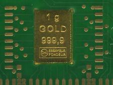 1 g Feingoldbarren 999,9 in echter Leiterplatte implantiert - mit Zertifikat-OVP