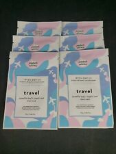 Lot of 6 Peach Slices Travel Camellia Leaf and Coptis Root Sheet Mask 0.84oz Ea