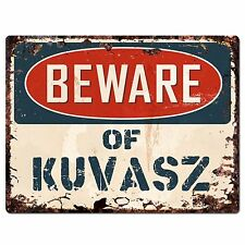 Pp1459 Beware of Kuvasz Plate Chic Sign Home Store Wall Decor Funny Gift