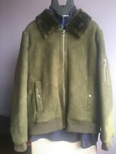 $1498.00 ELIE TAHARI Men's 100% Real Dyed Lamb Shearling Bomber Jacket Size XL