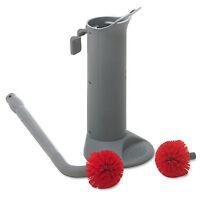 Unger Ergo Toilet Bowl Brush Complete: Wand Brush Holder & 2 Heads BBWHR