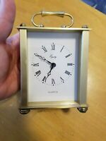 Equity Heavy Brass Quartz Carriage Clock - Tested and Works