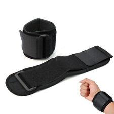Men Nylon Black Adjustable Sports Wristband Wrist Brace Wrap Support Gym Strap