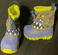 Cat and Jack NEW Toddler Boys Warm Thermolite Snow Boots Green Monster Size 4