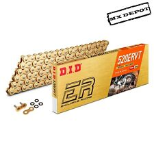 DID 520 ERVT ENDURO RACING X-RING CHAIN GOLD 520x120 LINKS YAMAHA WRF250 WRF450