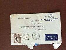b1u ephemera stamped franked envelope 1957 australia 2s