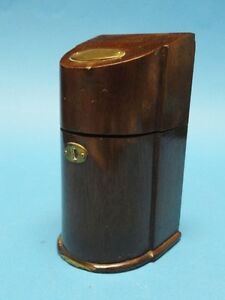 VINTAGE EVANS with COVER WOOD BOX  LIGHTER * RARE