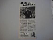advertising Pubblicità 1965 BRILLANTINA LINETTI