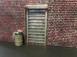 1/18 Scale Miniature Door for your garage Very nice detail By Unique Diorama's.