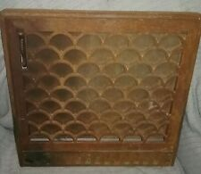 ANTIQUE CAST IRON WALL REGISTER GRATE DAMPER ART DECO