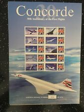 CONCORDE. 30TH ANNIVERSARY OF THE FIRST FLIGHTS . ONLY 1976 SHEETS PRODUCED
