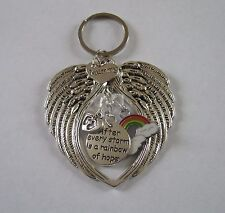 Memorial Mummy Of Rainbow Baby Crystal Keychain/Keyring/Handbag Charm