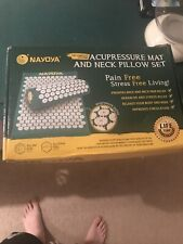 Nayoya Back and Neck Pain Relief Acupressure Mat and Pillow Set with Carry Box