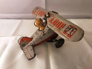 """Vintage """"Loop the Loop"""" Tin Plate Aeroplane, Japan, good working order ~ REDUCED"""