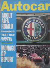 Autocar magazine 30/5/1968 featuring Alfa Romeo 1750 Berlina road test, Tipo 33