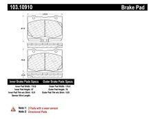 Disc Brake Pad-C-TEK Ceramic Brake Pads Front Centric fits 05-12 Acura RL