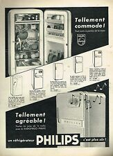 E- Publicité Advertising 1957 Le Refrigerateur Philips  Radiofrigo